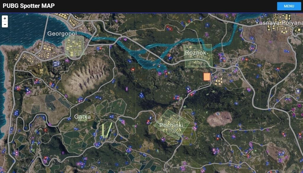 「PUBG Spotter」車両の位置や建物の詳細まで確認できる多機能なマップツール