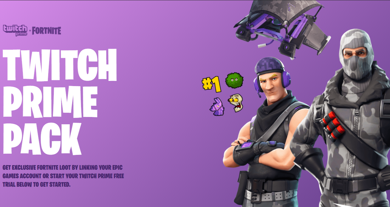 【Fortnite Battle Royale】Twitch Prime限定特典として限定スキンやエモート配布。特典内容と受け取り手順