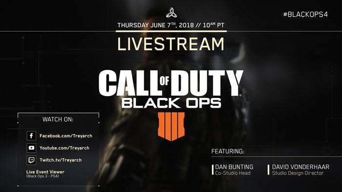 『Call of Duty: Black Ops 4』ライブ配信がアナウンス、日本時間6月8日午前2時に放送開始