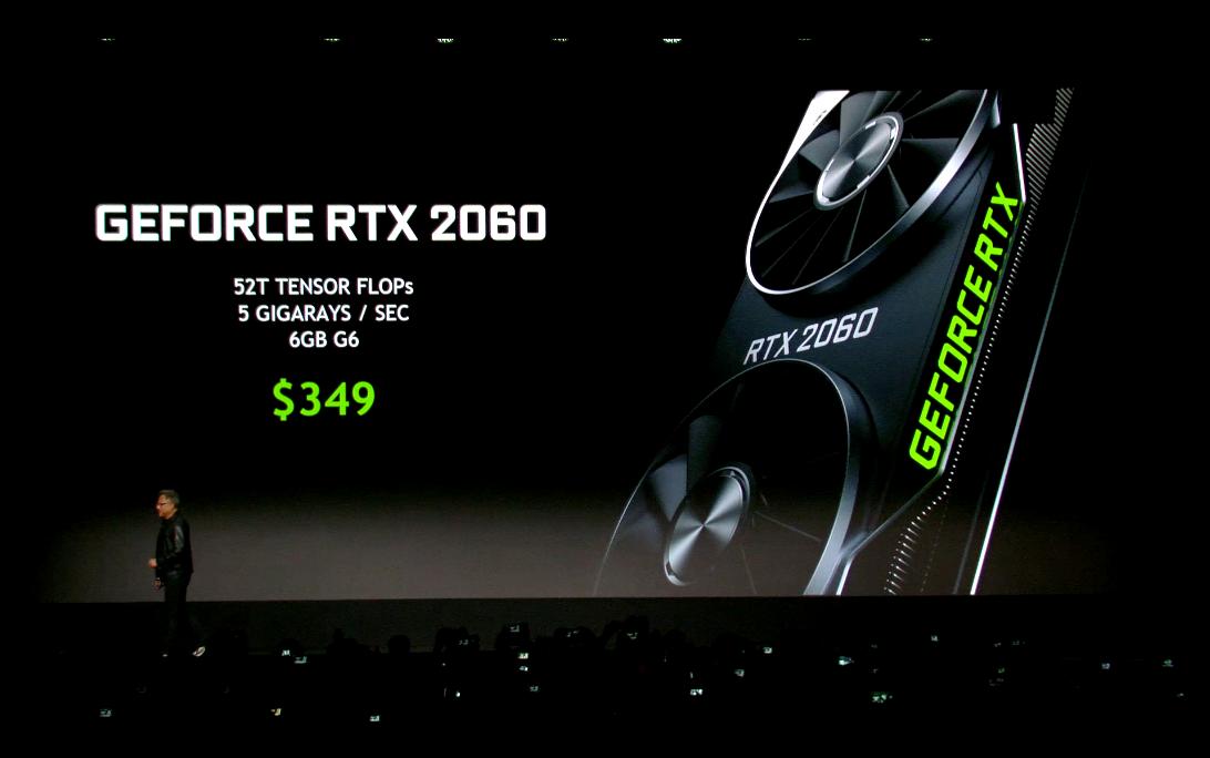 最新グラフィックスカード「GeForce RTX 2060」正式発表。メーカー想定売価は349ドル(税別)で、北米時間1月15日(火)より発売予定