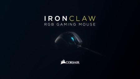 "Corsair、高精度センサー""PixArt PMW3391""を備えたハイエンドゲーミングマウス「Corsair IRONCLAW RGB」発表。2月2日(土)より国内取り扱い開始"
