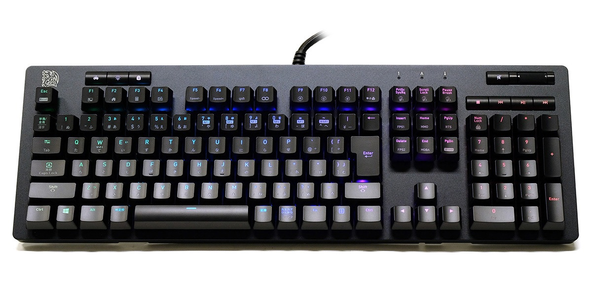 Thermaltake、Tt eSPORTSブランドのゲーミングキーボード「Neptune」シリーズ発表。TTCキースイッチ採用で税別8,480円より、2月22日(金)より販売開始