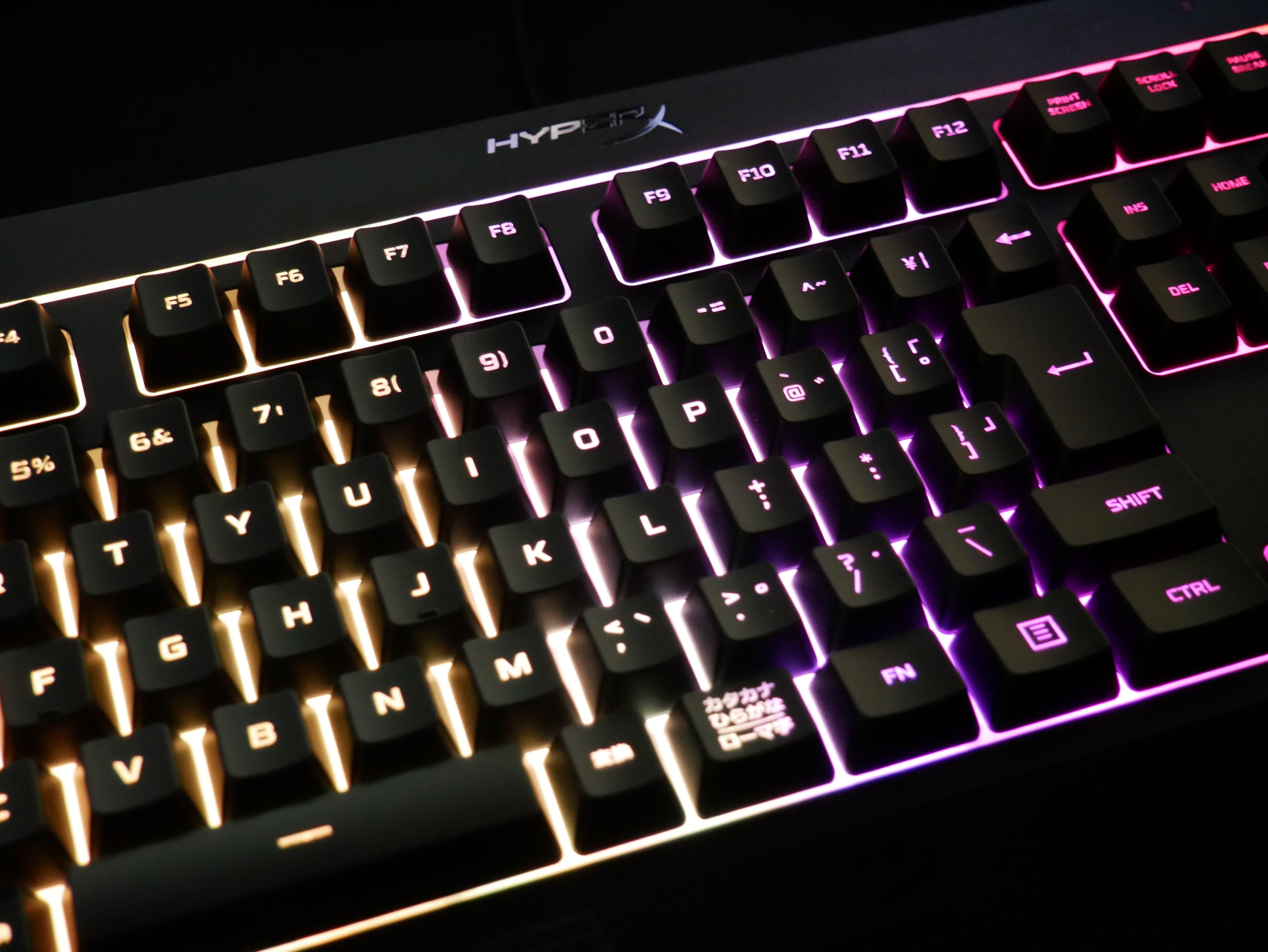 「HyperX Alloy Core RGB」レビュー。メンブレンスイッチ採用で低価格かつ充実した機能を備えるゲーミングキーボード