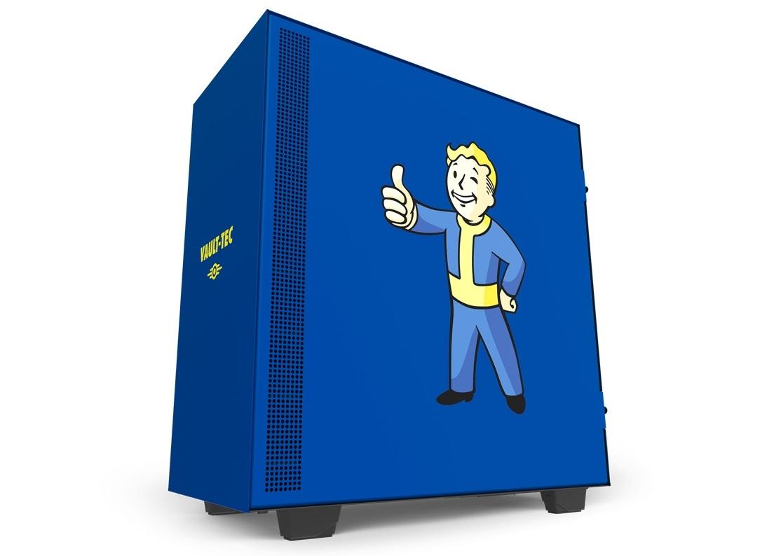 NZXT、人気ゲームFalloutとのコラボPCケース「NZXT H500 Vault Boy」発表。2019年5月下旬に発売予定