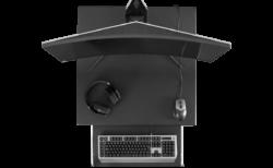 Bauhutte、狭い部屋でも大型ディスプレイを設置可能な横幅70cmのデスク「Bauhutte スクエアゲーミングデスク BHD-700M-BK」発売