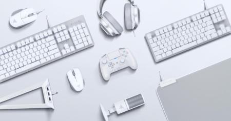 """Razer、""""真っ白""""なゲーマー向け周辺機器「Mercury Edition」計9製品を発表。Quartzに続くカラーバリエーションモデル"""