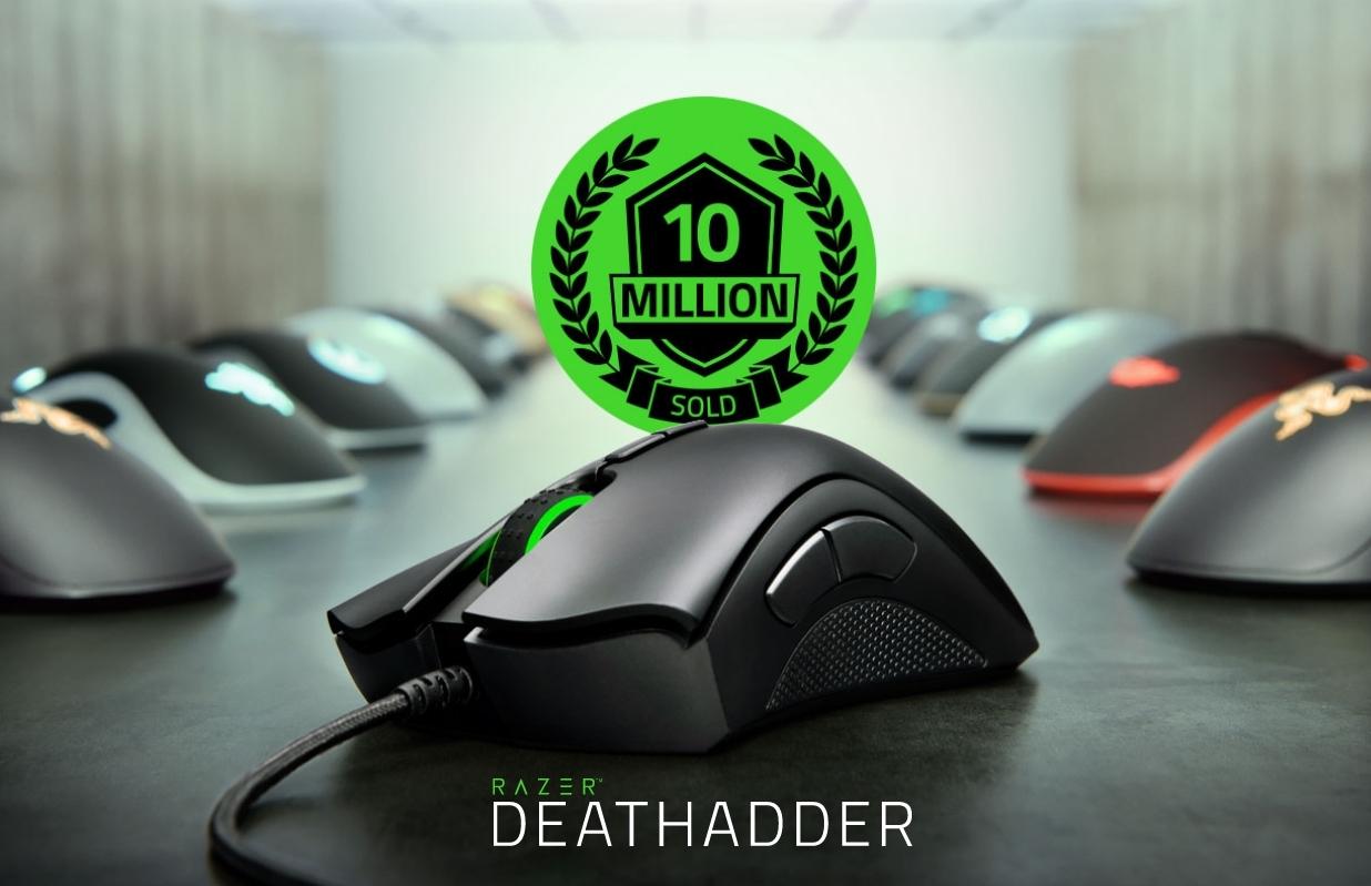 Razer、IE3.0クローンの定番ゲーミングマウス「Razer DeathAdder」シリーズの累計販売台数が1,000万台を突破