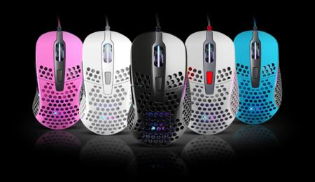 Xtrfy、Pixart PMW3389センサーを搭載した65gの超軽量ゲーミングマウス「Xtrfy PROJECT 4」発表。5色展開で今秋に発売予定か