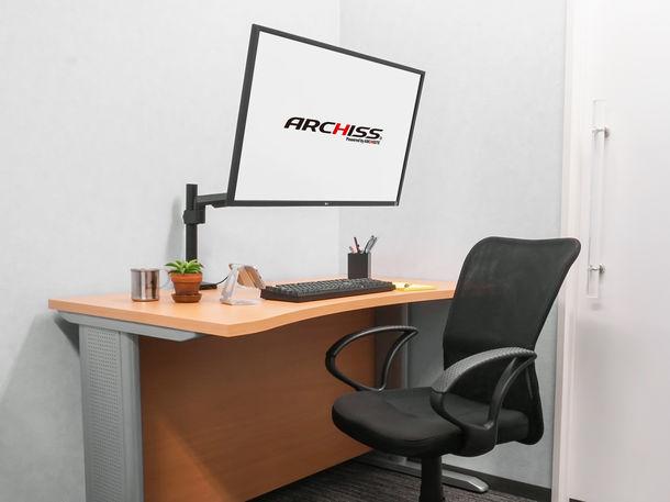 アーキサイト、ベーシックなガススプリング式モニターアーム「Monitor Arm Basic」シリーズ2製品を7月11日(木)より販売開始