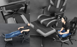 Bauhutte、ゲーミングチェアに座りながらあぐらをかける足置き台「ゲーミングオットマンワイド BOT-700-BK」発売