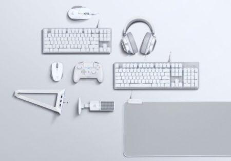 Razer、ゲーミングデバイス計9製品の真っ白なカラーバリエーションモデル「Mercury White」を一挙に発売