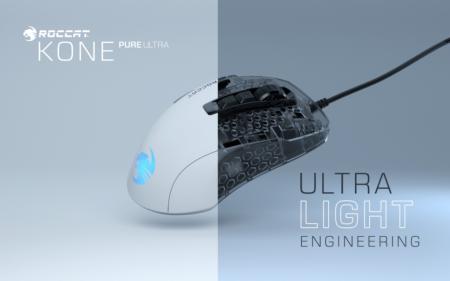 ROCCAT、人気ゲーミングマウスKone Pureの軽量版「ROCCAT Kone Pure Ultra」発表。肉抜き無しで本体重量わずか66g