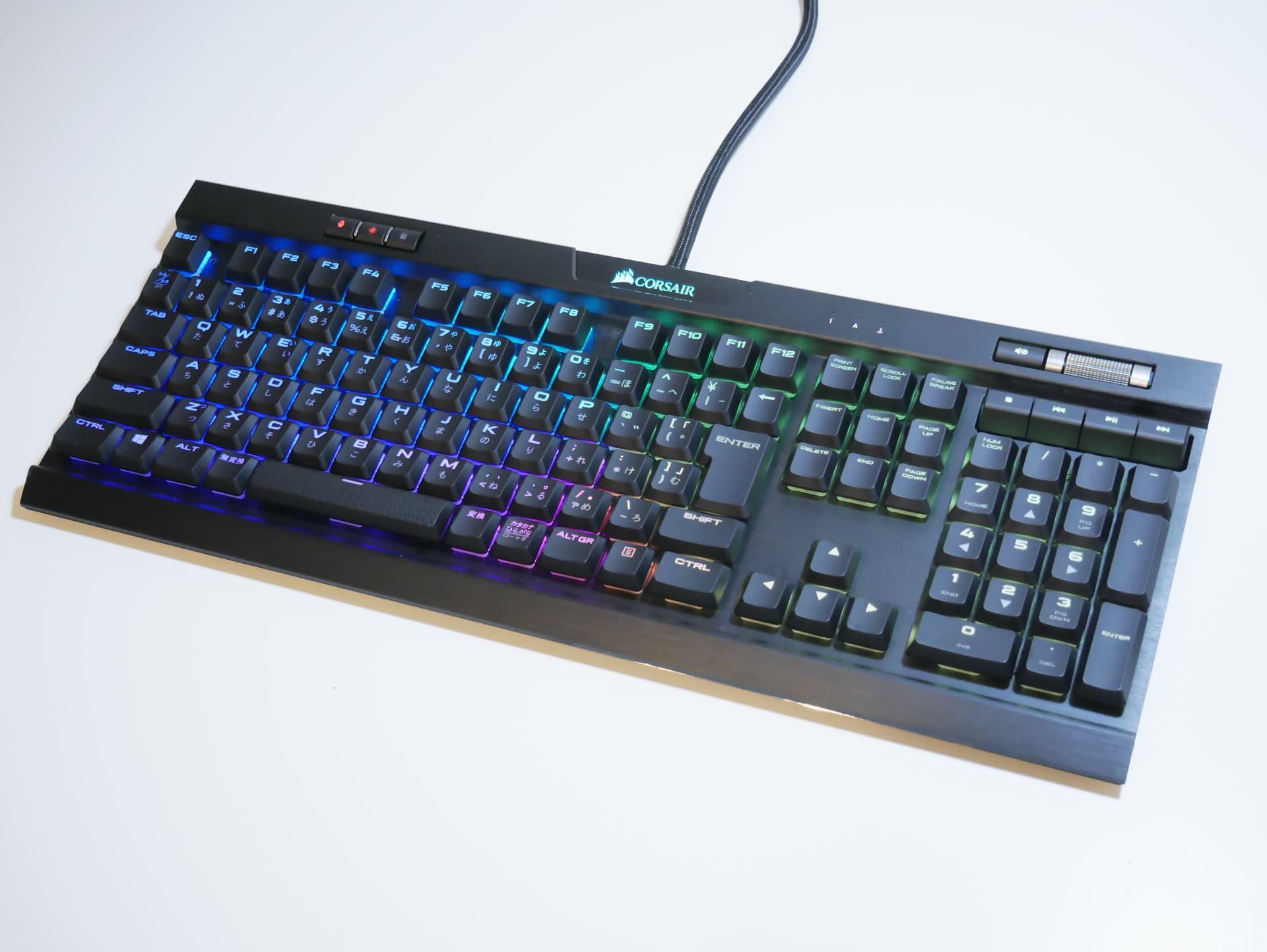 「Corsair K70 RGB MK.2 Low Profile」レビュー。作動点1.0mmのロープロファイル銀軸を備える薄型ゲーミングキーボード