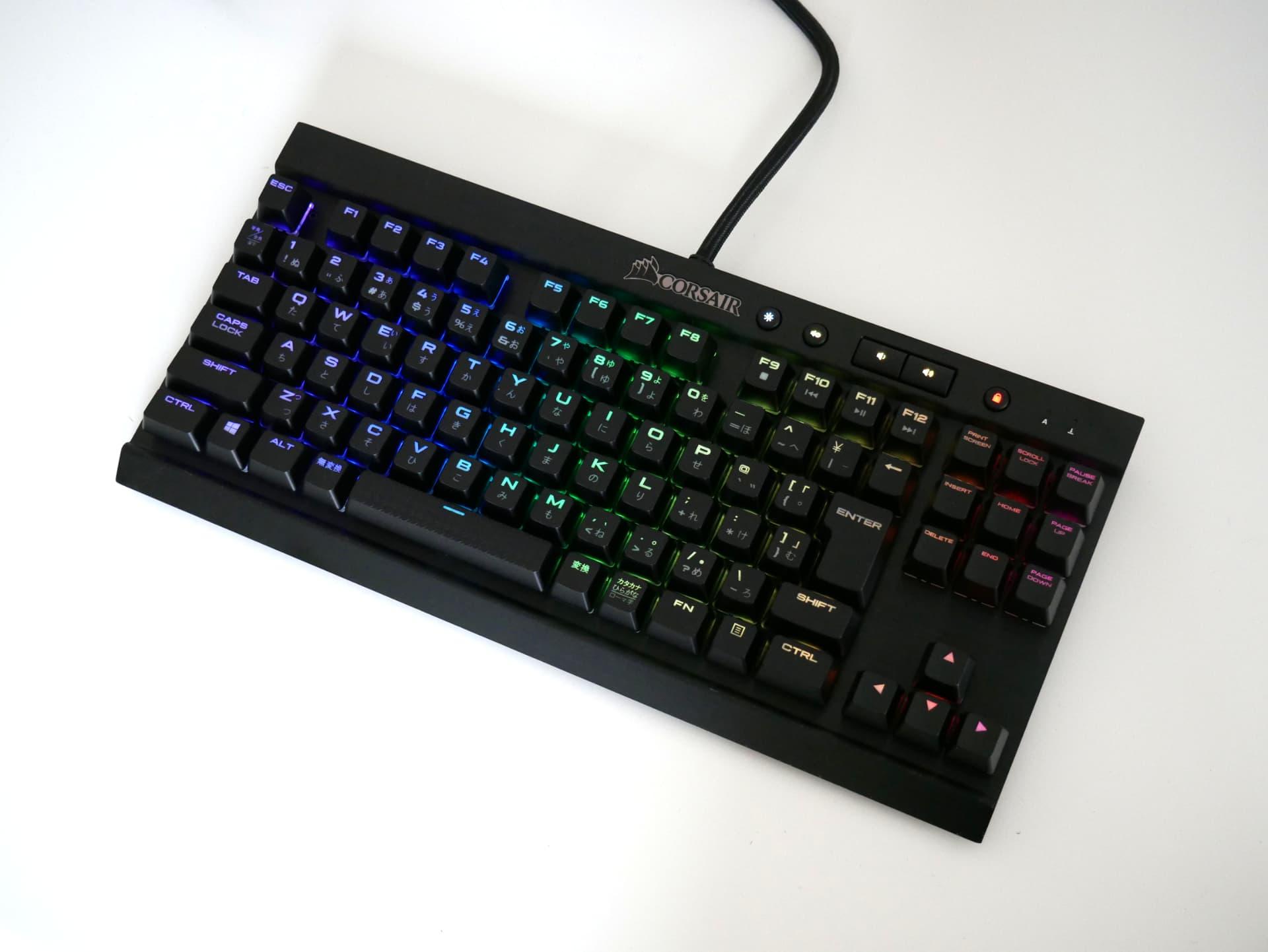 「Corsair K65 RGB Rapidfire」レビュー。便利な機能が揃ったテンキーレスの銀軸ゲーミングキーボード