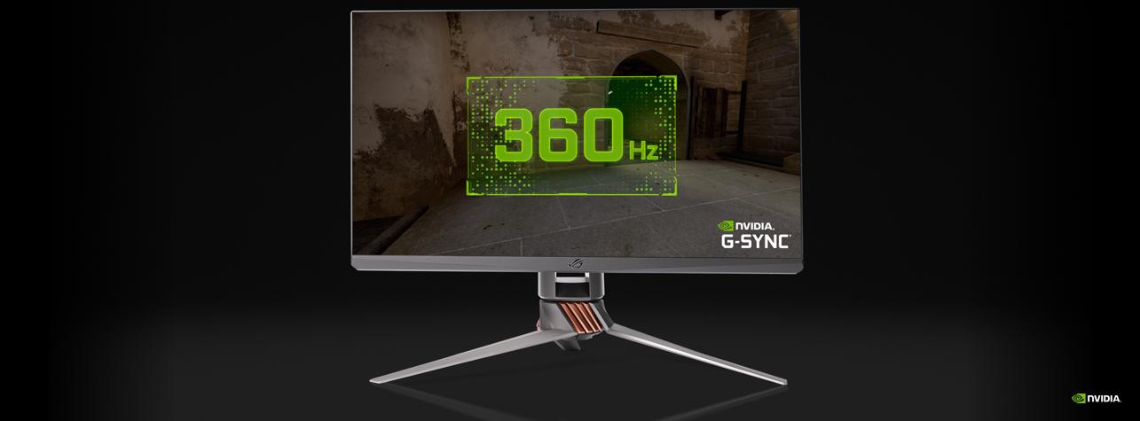 "NVIDIA、ASUSと共同開発の""360Hz駆動""ゲーミングモニター「ROG Swift 360Hz」を発表"