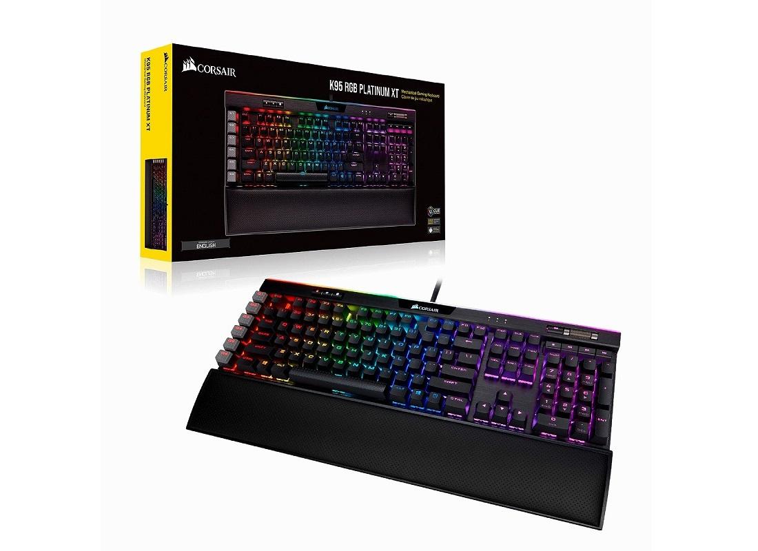 Corsair、1億回耐久のCherry MX銀軸を備えるゲーミングキーボード「Corsair K95 RGB Platinum XT Speed」を2月22日(土)に国内発売