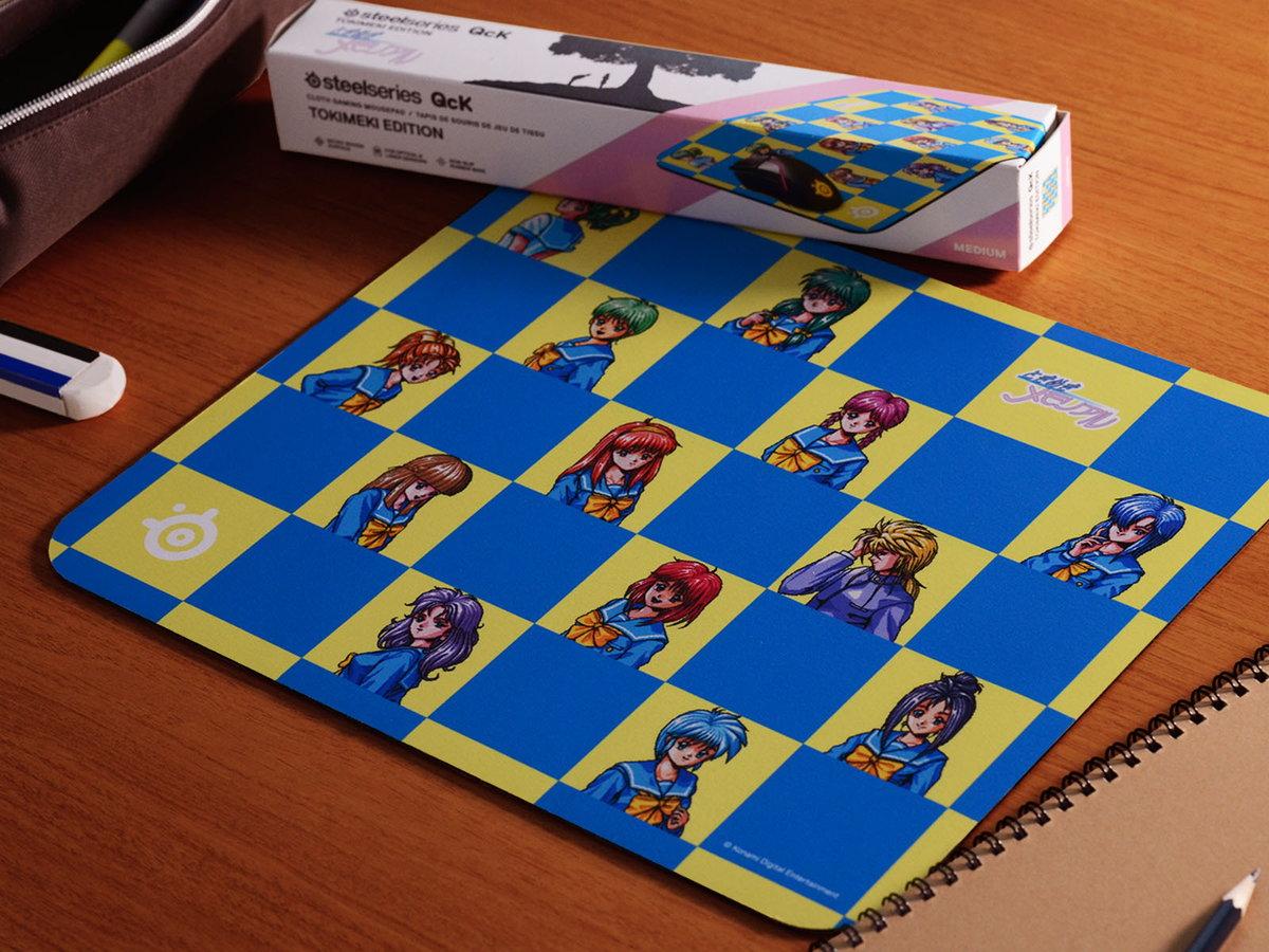 SteelSeries、日本限定マウスパッド「QcK Tokimeki Edition」を6月26日(金)に国内発売。恋愛シミュレーションゲーム「ときめきメモリアル」をモチーフに