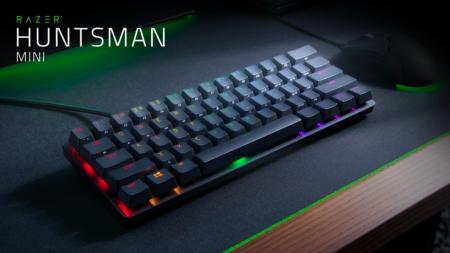 Razer、独自の光学式キースイッチを搭載した60%ゲーミングキーボード「Razer Huntsman Mini」を7月31日(金)に国内発売。リニア軸、クリッキー軸の2種類を展開