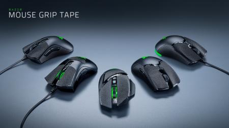 Razer、ゲーミングマウスに貼り付けるグリップテープ「Razer Mouse Grip Tape」を発表。既存10製品に対応する5種の形状をラインナップ