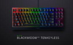 Razer、テンキーレスのゲーミングキーボード「Razer BlackWidow V3 Tenkeyless」を8月31日(月)に国内発売