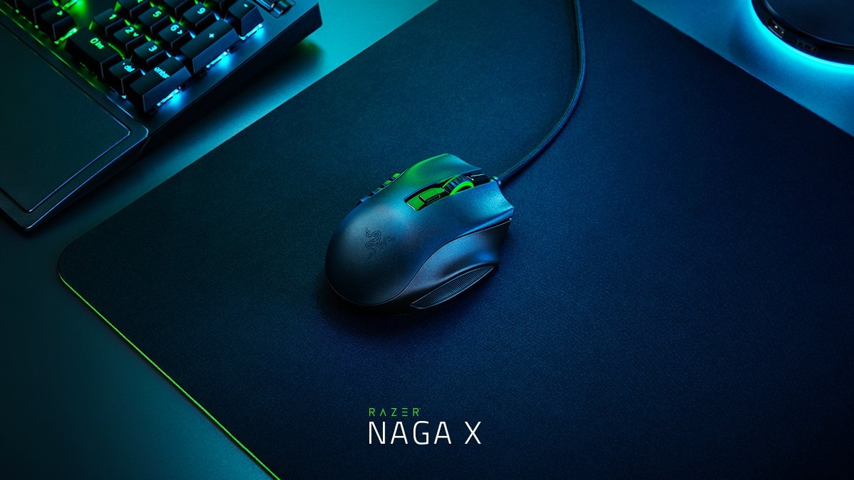 Razer、16ボタンを搭載するMMO向けゲーミングマウス「Razer Naga X」発表。85gで以前よりも軽量に