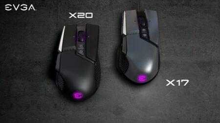 EVGA、トリプルセンサー搭載のワイヤレスマウス「X20」とポーリングレート8,000Hz対応の有線モデル「X17」を発表