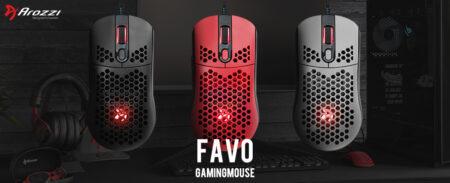 Arozzi、ポーリングレート2,000Hz対応の軽量ゲーミングマウス「Favo」とマウスパッド「Zona」を国内発売