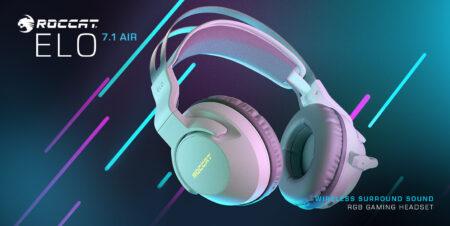 ROCCAT、バーチャル7.1サラウンド対応のワイヤレスヘッドセット「ELO 7.1 AIR」にホワイトカラーを追加